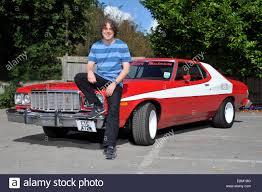 Starsky And Hutch Movie Car Comedian Alan Davies With A Replica Starsky And Hutch Ford Gran