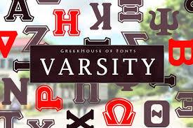 varsity greek lettering fonts creative market