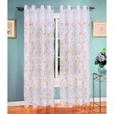 Turquoise And Grey Curtains Orange Sheer Curtains U0026 Drapes Window Treatments The Home