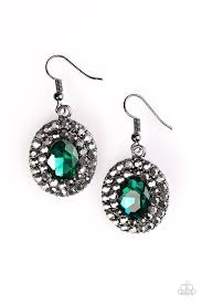 sparkly green earrings grit and glitter green earrings paparazzi accessories 5 00