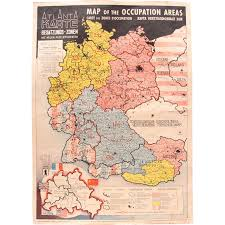 Ww2 Map 1946 Map Of The Occupied Areas Germany Map After Ww2 Atlanta