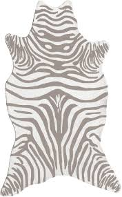 Shaped Area Rugs Resort 25258 Zebra Grey Shaped Rug From The Continental Rugs