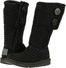 s isla ugg boot ugg isla black knit shipped free at zappos