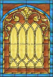 Decorative Window Film Stained Glass Stained Glass Church Window Faux Privacy Stained Glass Clings And