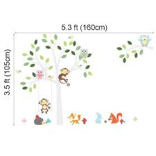 elecmotive wall decor elecmotive cartoon forest animal monkey