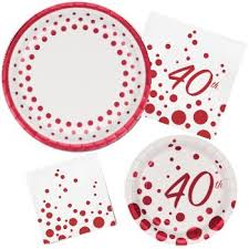 anniversary plates 40th anniversary paper plates and napkins party at lewis