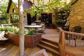 Wrap Around Deck Designs Exterior Design Wrap Around Porch With Metal Chairs And Metal