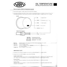 saas water temp gauge wiring diagram saas wiring diagrams collection