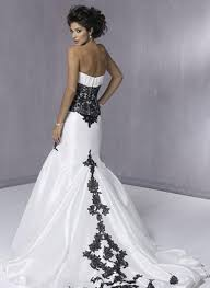 white with black lace wedding dresses pictures ideas guide to