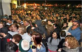 the angry mob outside the best buy on black friday was like a