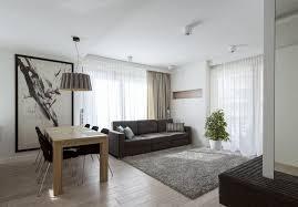 sofa esstisch modernes wohnzimmer mit dunklem sofa einrichten 55 ideen