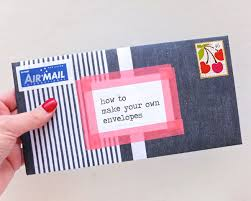 how to make your own envelope how to make your own envelopes my poppet makes