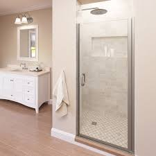 Shower Doors Reviews Basco Infinity 28 X 72 Pivot Semi Frameless Shower Door