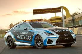 lexus rc f price tag lexus rc f to serve as safety car for v8 supercars series