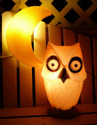 vintage halloween owl blow mold all lit up and owly likes u2026 flickr
