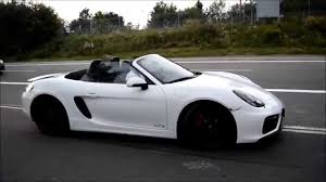 Porsche Boxster White - new boxster gts start up acceleration and walk around youtube