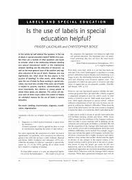 is the use of labels in special education helpful pdf download