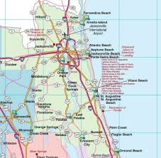florida towns map northeast florida road map showing towns cities and highways