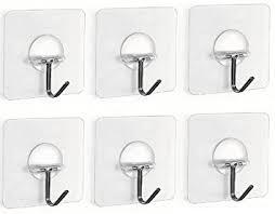 haken badezimmer fealkira 6 stücke haken selbstklebend wiederverwendbar