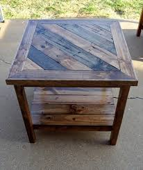 Diy Wooden Table Top by Best 25 Pallet End Tables Ideas On Pinterest Diy End Tables