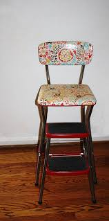 Cosco Bar Stool Vintage Restored Cosco Kitchen Step Stool By Queenieseclectic
