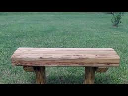 Old Wood Benches For Sale by How To Build A Wooden Bench For 12 75 Youtube