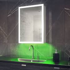 lighted edge demist led colour change bathroom cabinets