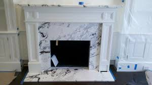 calacatta capri fireplace surround paramount stone