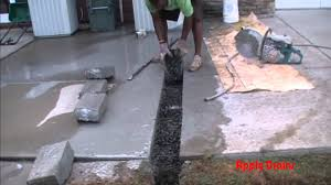 How To Cover Old Concrete by Downspout Drain Under Concrete How To Cut Remove Concrete Youtube