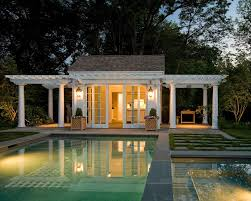 rectangle house pool traditional with pool cabana propane fire columns