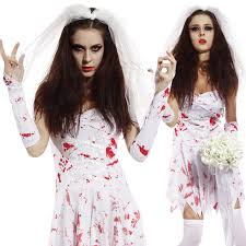 scary ladies bloody zombie costume walking dead cosplay halloween