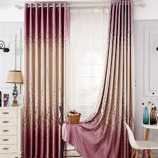 Plum Blackout Curtains Country Purple Jacquard Blackout Ready Made Floral Curtains