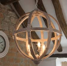 Wooden Chandeliers Large Wooden Orb Chandelier By Cowshed Interiors