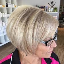 asymmetrical short haircuts for women over 50 layered bob hairstyles for women over 40 for more style