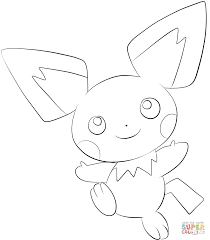 pichu coloring page free printable coloring pages