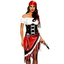 Amazon Halloween Costumes Amazon Women U0027s Pirate Buccaneer Wench Costume Clothing