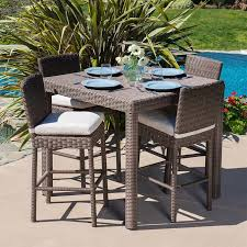 Noble House Outdoor Furniture by Milano 5 Piece Bar Height Dining Set