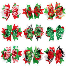 different types of hair bows online shop 13pcs lot 5 inch hair accessories christmas