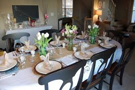 on the v side easter table
