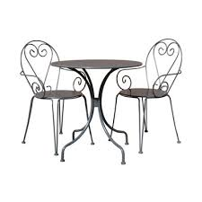 Tesco Bistro Chairs Buy Charles Bentley Shabby Chic Steel Heart 3 Piece Bistro Set In