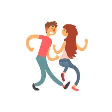 imagenes de amor con muñecos animados pares en personaje de dibujos animados del vector del baile del amor