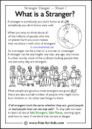 stranger danger worksheets colouring pages