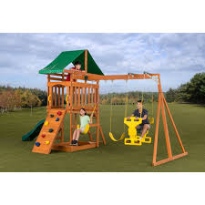 swing sets on hayneedle wooden swing sets
