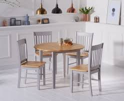 grey dining table set genoa 100cm oak and grey drop leaf extending dining table set with