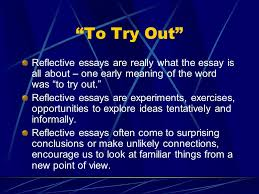 Reflective Essays  Presenting a particular occasion Present your     SlidePlayer