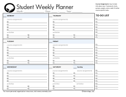 sample planning calendar 4 best images of free printable student