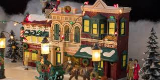 christmas villages christmas villages on display at starlight christmas 1865