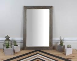 Wood Bathroom Mirror by Wall Mirror Etsy