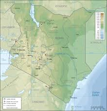Picture Of Map Map Of Kenya Topographic Map Worldofmaps Net Online Maps And