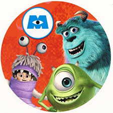 monsters inc cake toppers monsters inc sully boo edible image cake cupcake topper
